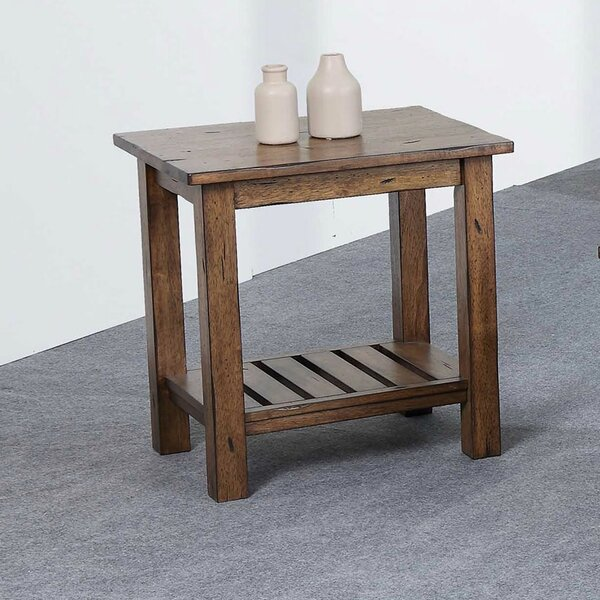 Rutledge Solid Wood End Table by Rosecliff Heights Rosecliff Heights
