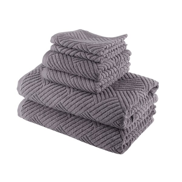 Smyrna 6 Piece Turkish Cotton Towel Set by Lunasidus