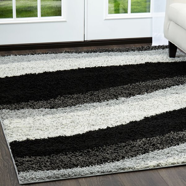 Synergy Wave Gray Area Rug by Nicole Miller