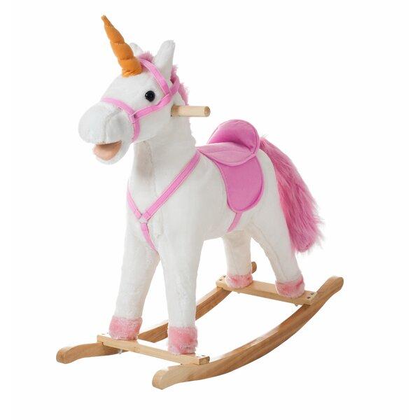 Unicorn Plush Rocking Horse by Happy Trails