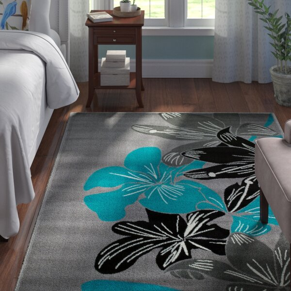 Frieda Gray Area Rug by Andover Mills