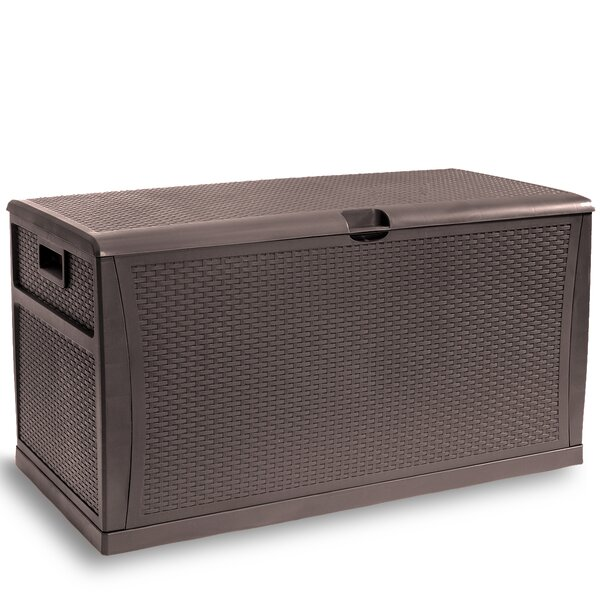 Outdoor 120 Gallon Plastic Deck Box by Barton Barton
