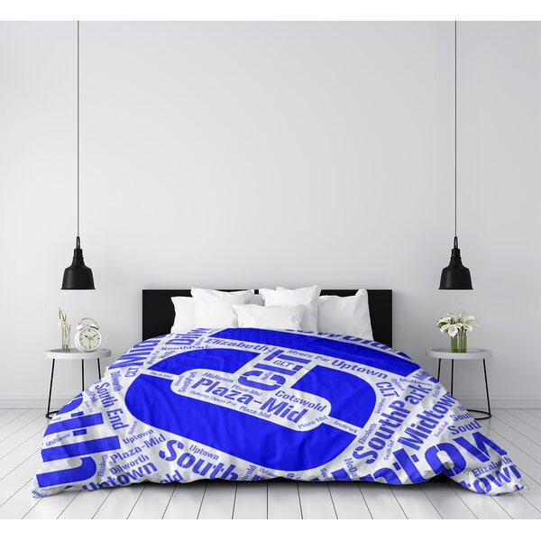 Charlotte North Carolina Districts Single Reversible Duvet Cover