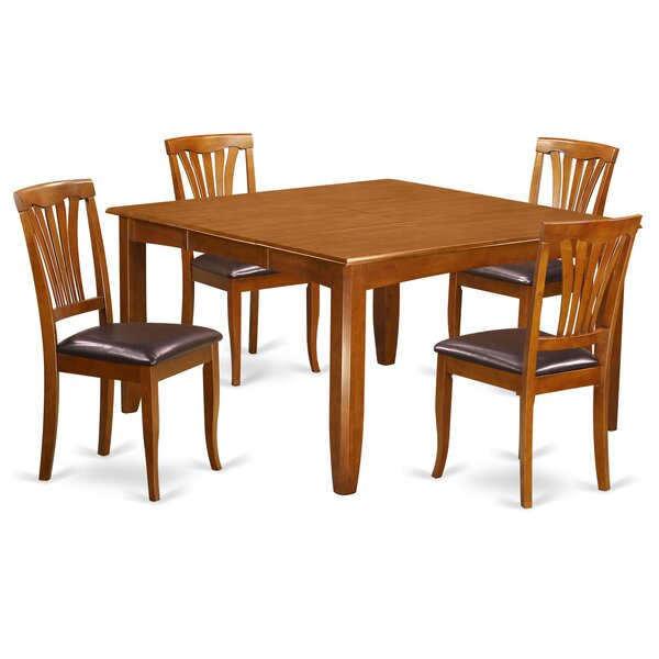 Parfait 5 Piece Extendable Dining Set By Wooden Importers Great Reviews