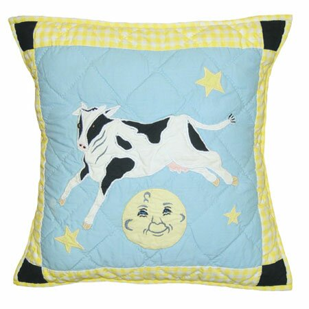 Hey Diddle Diddle Cotton Throw Pillow by Patch Magic