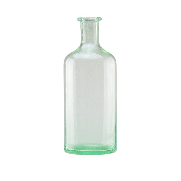 Bottle Inspired Hand Blown Bubble Glass Vase by Northlight Seasonal