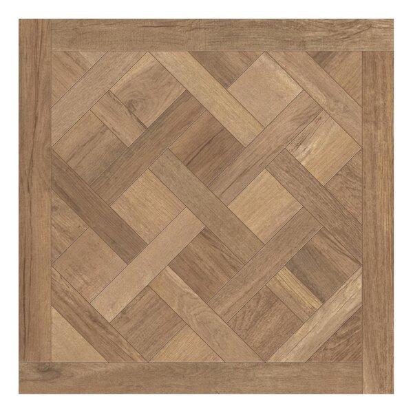 Travel Cassettone Décor 24 x 24 Porcelain Wood Look Tile in South Gold by Travis Tile Sales