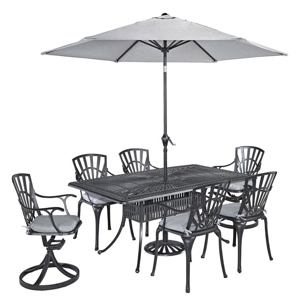 Frontenac Swivel Patio Dining Chair with Cushion by Astoria Grand