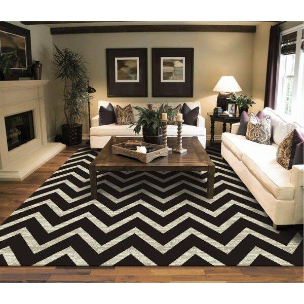 Giunta Wool Black/Ivory Indoor/Outdoor Area Rug by