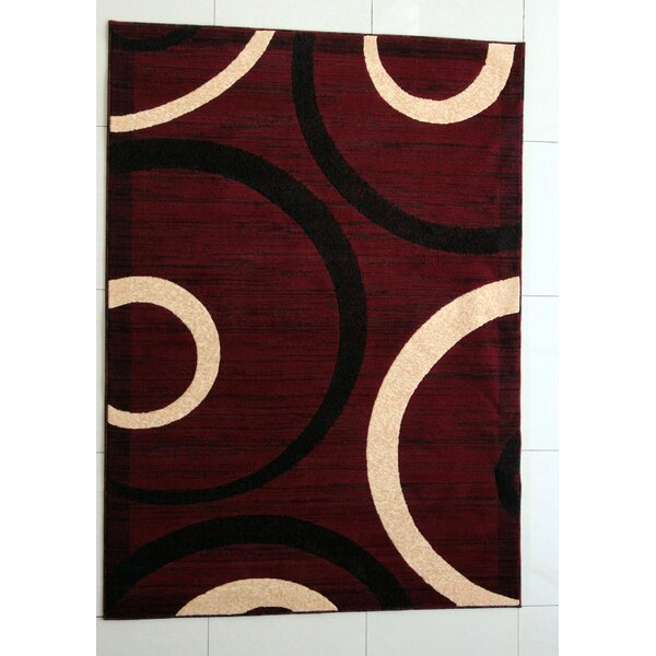 Esteban Burgundy Area Rug by Ebern Designs
