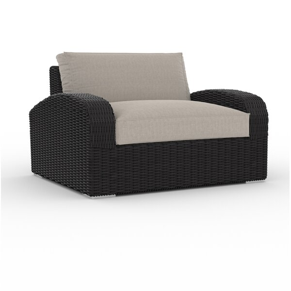 Boomer Large Patio Chair with Cushion by Bungalow Rose