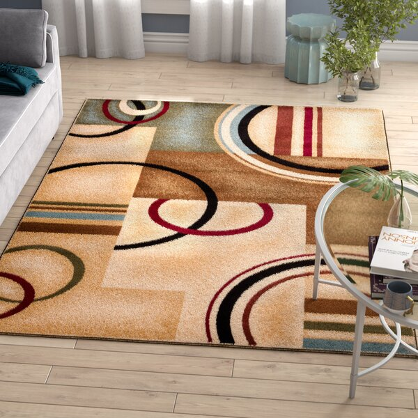 Ari Ivory Arcs and Shapes Area Rug by Zipcode Design