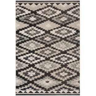 Bargain Griffeth Gray/Black Indoor/Outdoor Area Rug By Bungalow Rose