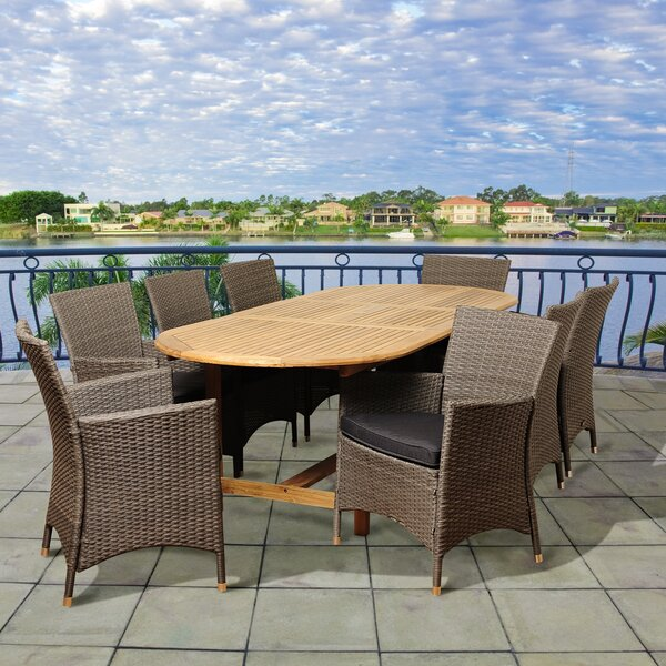 Hillier International Home Outdoor 9 Piece Teak Dining Set with Cushions by Winston Porter