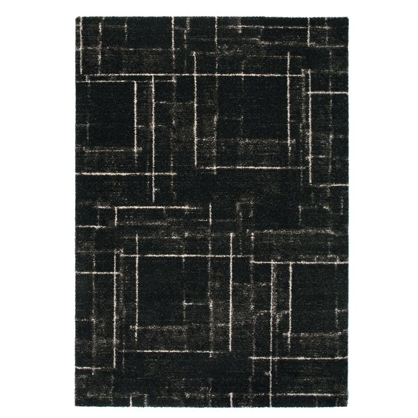 Market Black Area Rug by Rug Modern