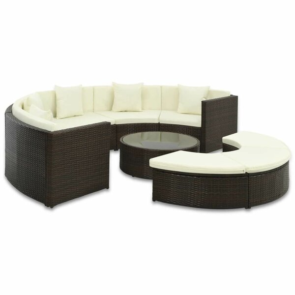 Thetford Outdoor 7 Piece Sectional Seating Group with Cushions by Ivy Bronx
