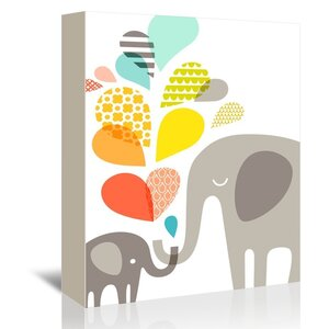 Elephants Graphic Art on Wrapped Canvas by Viv + Rae