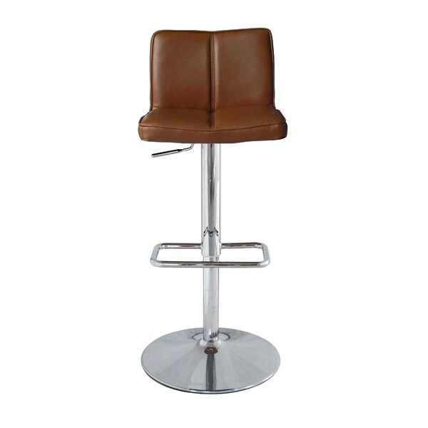 Anzalone Adjustable Height Bar Stool by Orren Ellis