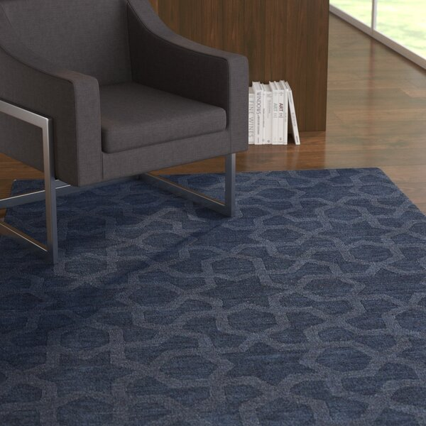 Dobson Handmade Navy Area Rug by Ebern Designs