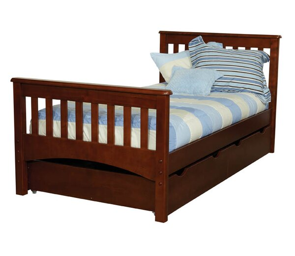 Bonneau Traditional Twin Slat Bed with Storage by Harriet Bee