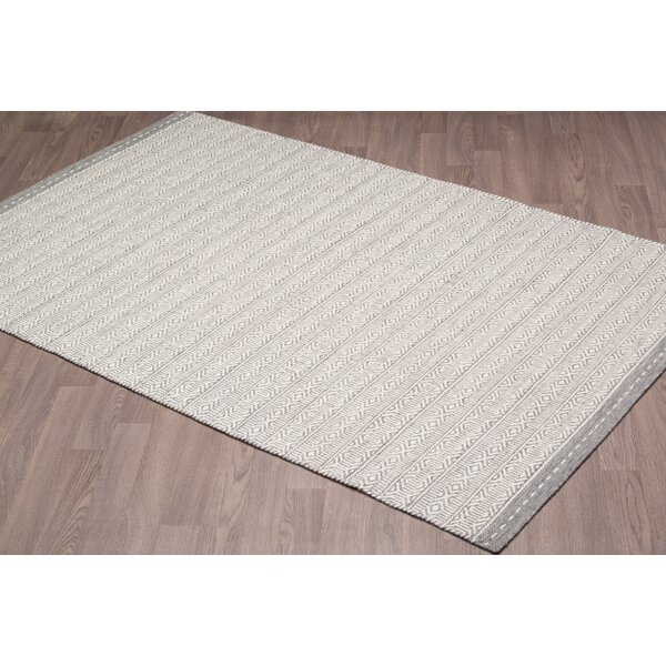 Backstrom Reversible Hand Woven Wool Ivory/Gray Area Rug by Foundry Select
