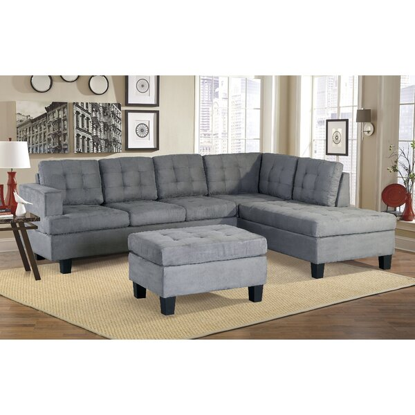 Versailles Right Hand Facing Sectional with Ottoman by Latitude Run Latitude Run