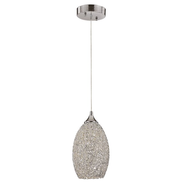 Frankel 1-Light Cone Pendant by House of Hampton