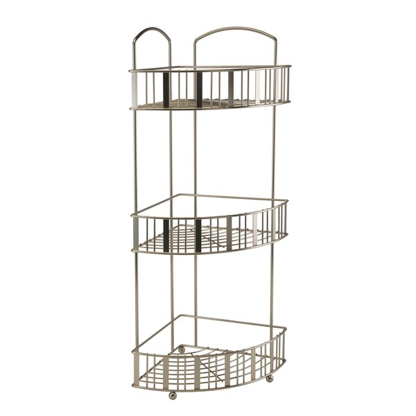 Diabate Stripe 3 Tier Shower Caddy by Rebrilliant