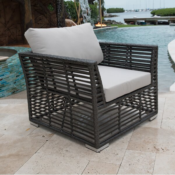 Graphite Patio Chair with Cushions by Panama Jack Outdoor
