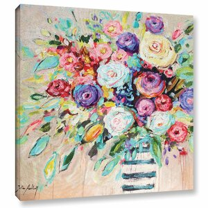 'Vibrant Bouquet' Painting Print on Wrapped Canvas by Willa Arlo Interiors