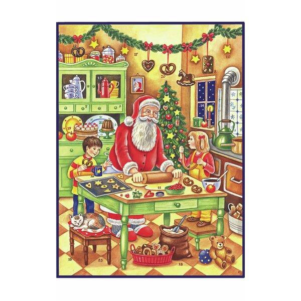 Sellmer Large Baking Santa Advent Calendar by The Holiday Aisle