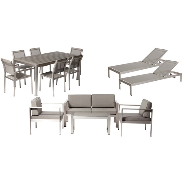 Karen 13 Piece Complete Patio Set with Cushions by Rosecliff Heights