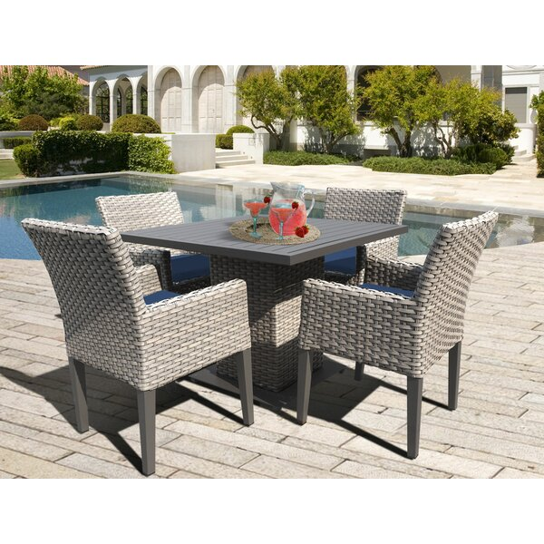 Brennon 5 Piece Dining Set with Cushions by Sol 72 Outdoor
