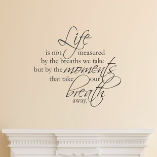 Life Quote Wall Stickers Stunning Inspirational Wall Decals You'll Love  Wayfair