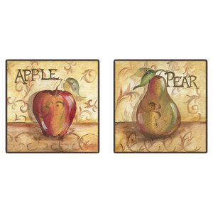 'Kitchen Fruit' Framed Graphic Art (Set of 2) by Andover Mills