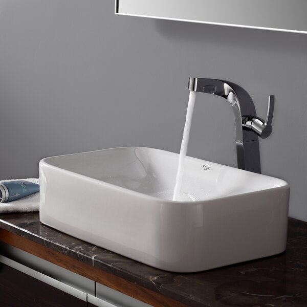 Calanthe Calanthe Rectangular Vessel Bathroom Sink by Zipcode Design