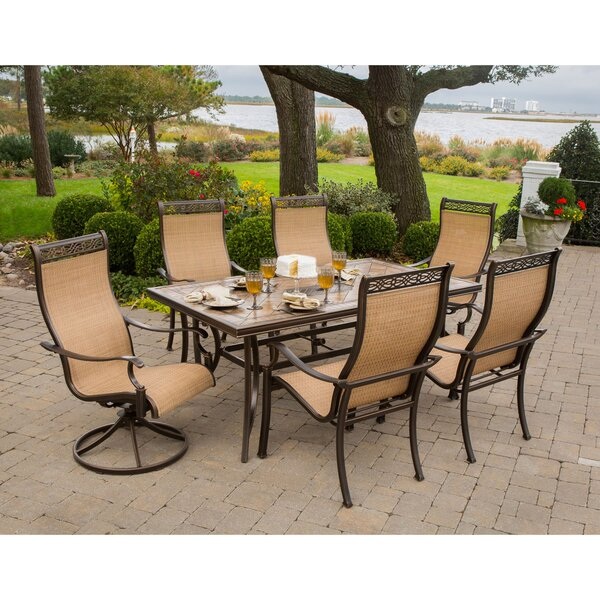 Lauritsen 7 Piece Outdoor Dining Set by Three Posts