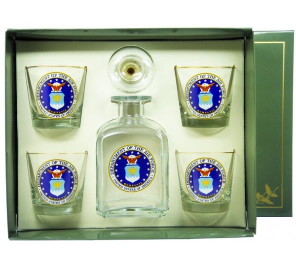 5-Piece Air Force Decanter Set by Richard E. Bishop