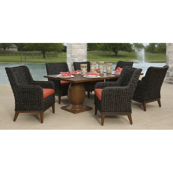 Allure 7 Piece Sunbrella Dining Set with Cushions Bayou Breeze W000208840