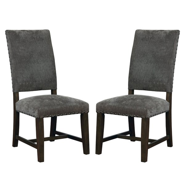 Aureliana Upholstered Side Chair In Gray (Set Of 2) By Red Barrel Studio