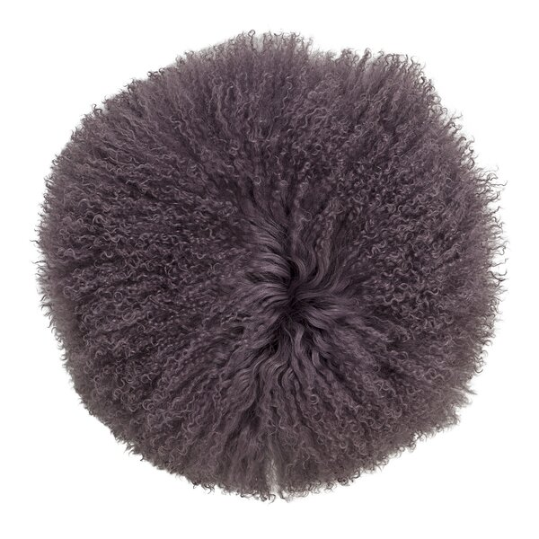 Shawna Lamb Fur Suede Throw Pillow by Zipcode Design