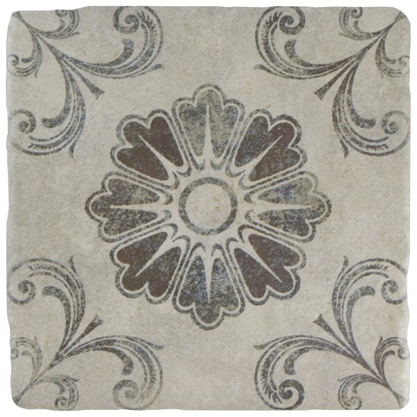 Diego 7.75 x 7.75 Ceramic Field Tile in Matte Gray/Blue/Brown by EliteTile