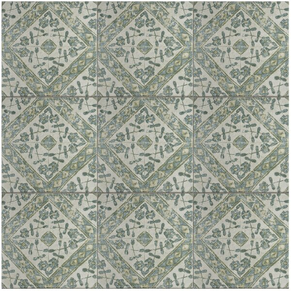 Shale 12.75 x 12.75 Ceramic Field Tile in Teal/Gray by EliteTile