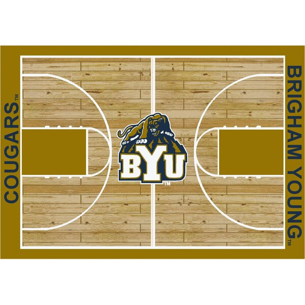 NCAA College Home Court Brigham Young Novelty Rug by My Team by Milliken