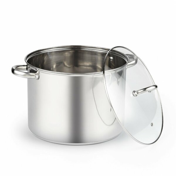 13-qt. Stock Pot with Lid by Cook N Home
