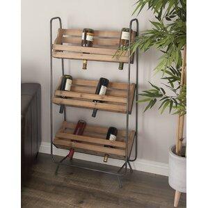 Wood/Metal 18 Bottle Floor Wine Rack by Cole & Grey