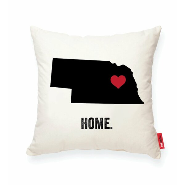 Pettry Nebraska Cotton Throw Pillow by Wrought Studio