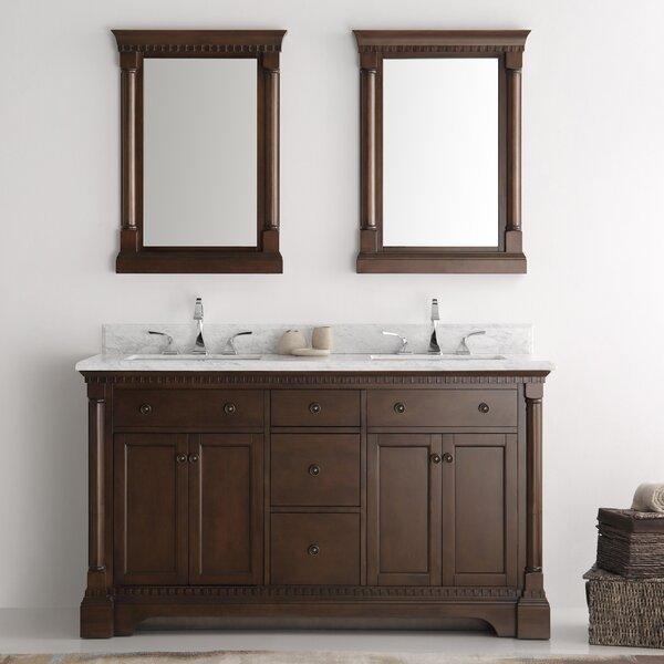 Kingston 61 Double Bathroom Vanity Set with Mirror by Fresca