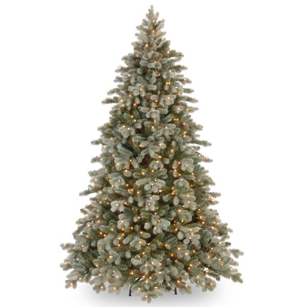 84 Green Spruce Artificial Christmas Tree with 700 Clear Lights and Stand by One Allium Way