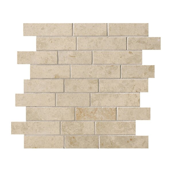 Everstone 12 x 24 Porcelain Mosaic Tile in Ever-Beige by Travis Tile Sales